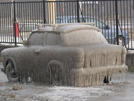 Bloggbild: Den här bilen behöver en rejäl isskrapa för att bli renskrapad